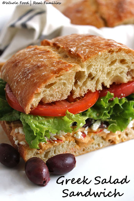 National Picnic Month - Greek Salad Sandwich