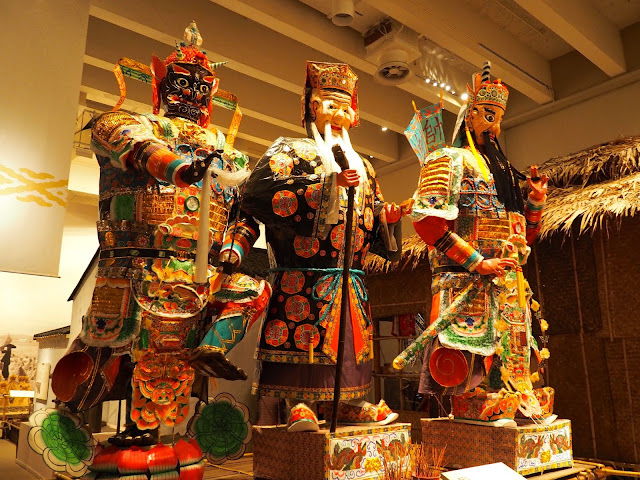Giant theatre puppet figures in the traditions exhibit of the Hong Kong Museum of History