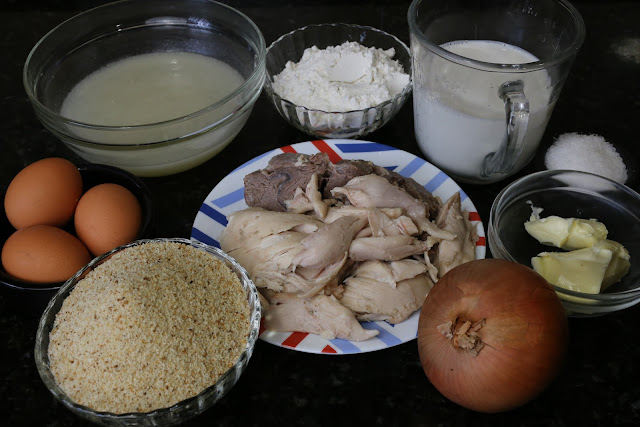 Ingredientes para croquetas del puchero