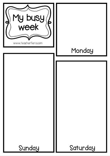 Teacher fiera 39 s assemblage my busy week flip book for Html flip book template