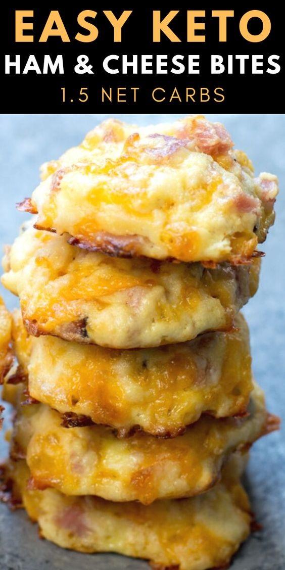 Keto Ham And Cheese Bites