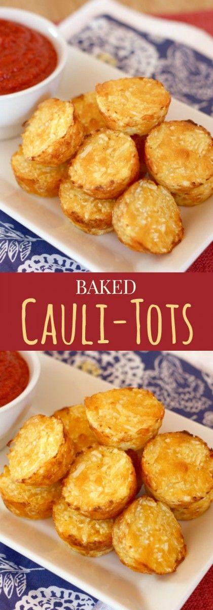 BAKED CAULI-TOTS {HEALTHY TATER TOTS} #cauli #tots #baked #healthyfood #healthyrecipes #healthysnack #snackrecipes #easysnackrecipes