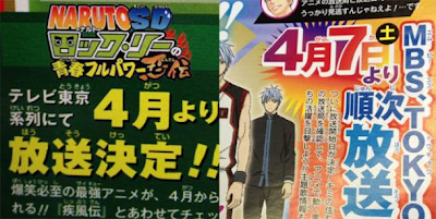Rock Lee no Seishun Full-Power Ninden seishun anime estreno abril
