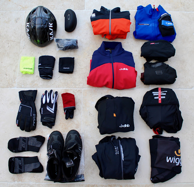 Winter Cyclocross Kit Layout