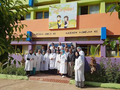 بني ملال:مديرالمركز الوطني للتقويم والامتحانات والتوجيه في زيارة ميدانية لمدرسة وادي المخازن