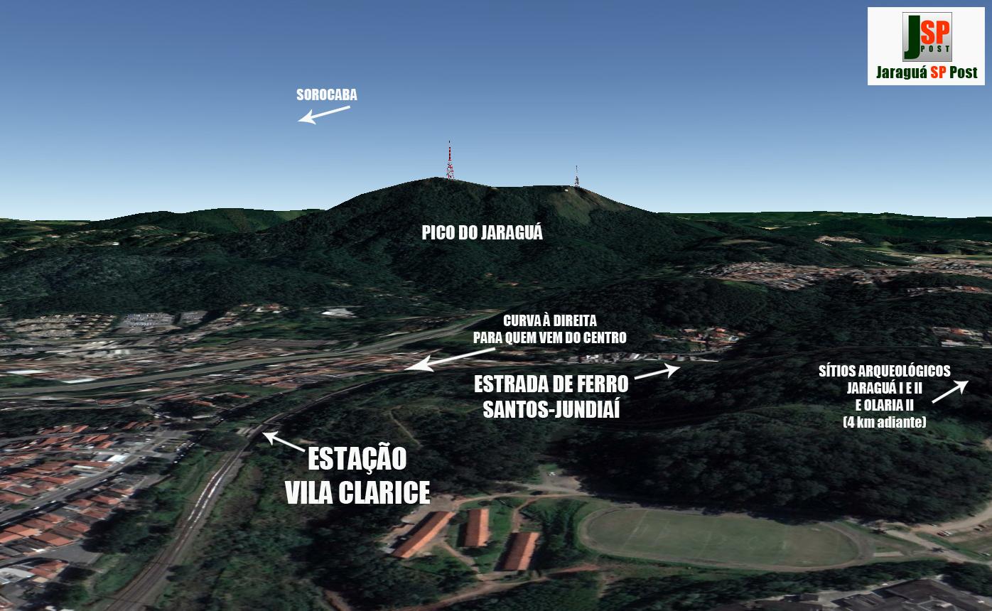 Para Yamashita, o Peabiru não fazia a curva à diteira dos trilhos, mas continuava por cima do Pico do Jaraguá