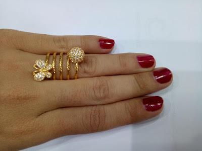 Gambar Perhiasan Cincin Emas Model Lilit Hati Kupu Kupu