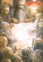 Los enanos trazan planes con Gandalf