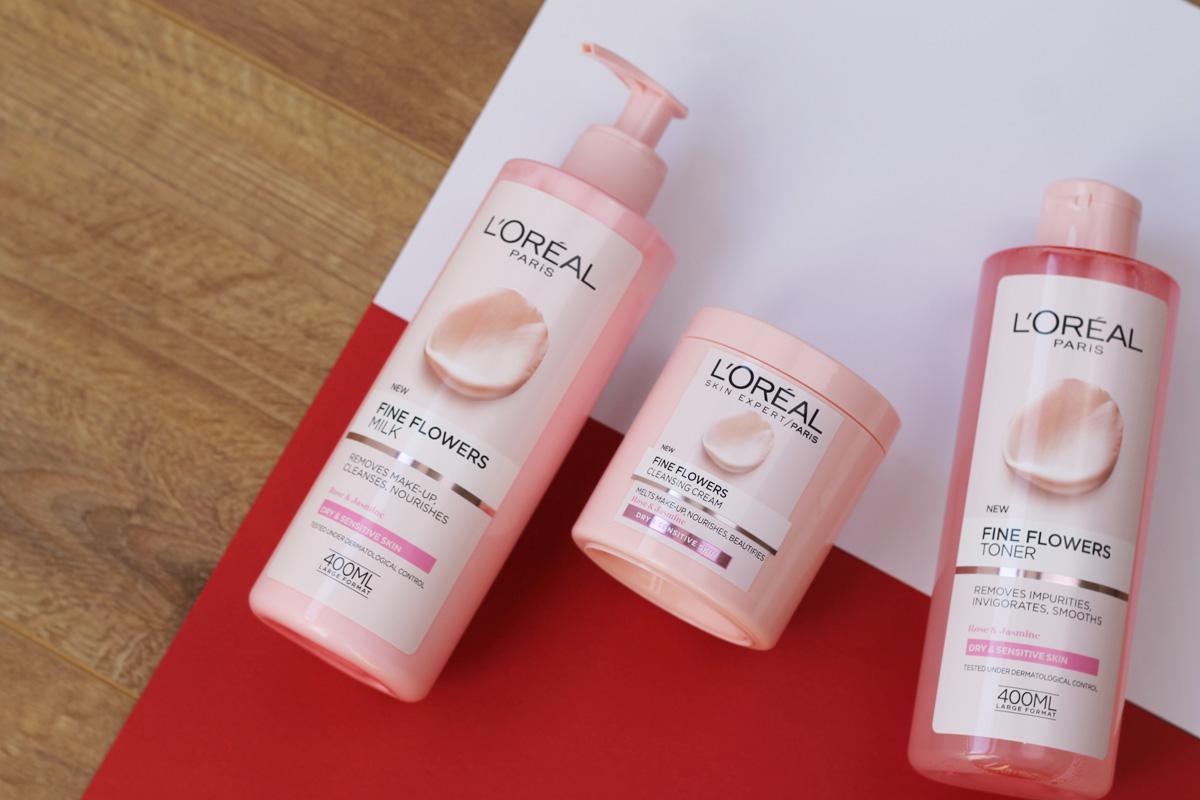 L'oreal Fine Flowers Milk, Cleansing Cream & Toner