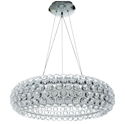 "CLEAR HALO 25"" ACRYLIC CHANDELIER"