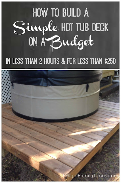 how to make a hot tub deck for 250 and 2 hours work for our very portable swift current spa. Black Bedroom Furniture Sets. Home Design Ideas