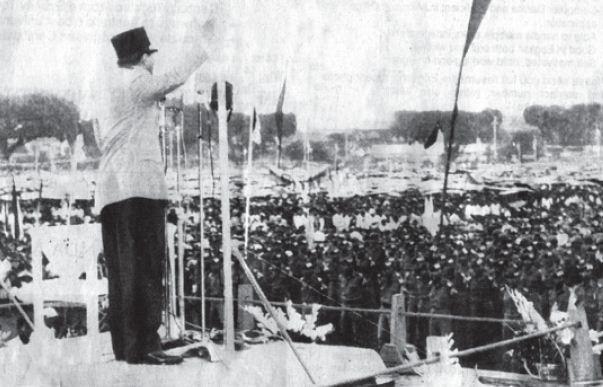 Pada tanggal 19 Desember 1961 Presiden Soekarno mengumandangkan Trikora dalam rapat raksasa di alun-alun Yogyakarta.