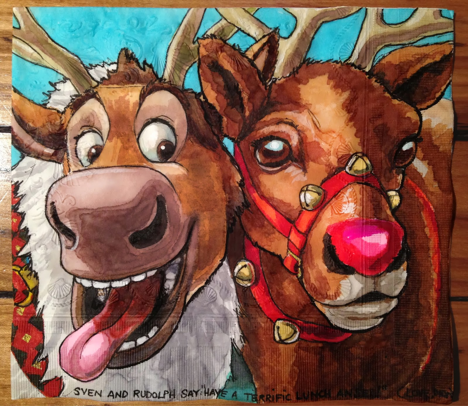 Daily Napkins Sven From Quot Frozen Quot With Rudolph The Red Nosed