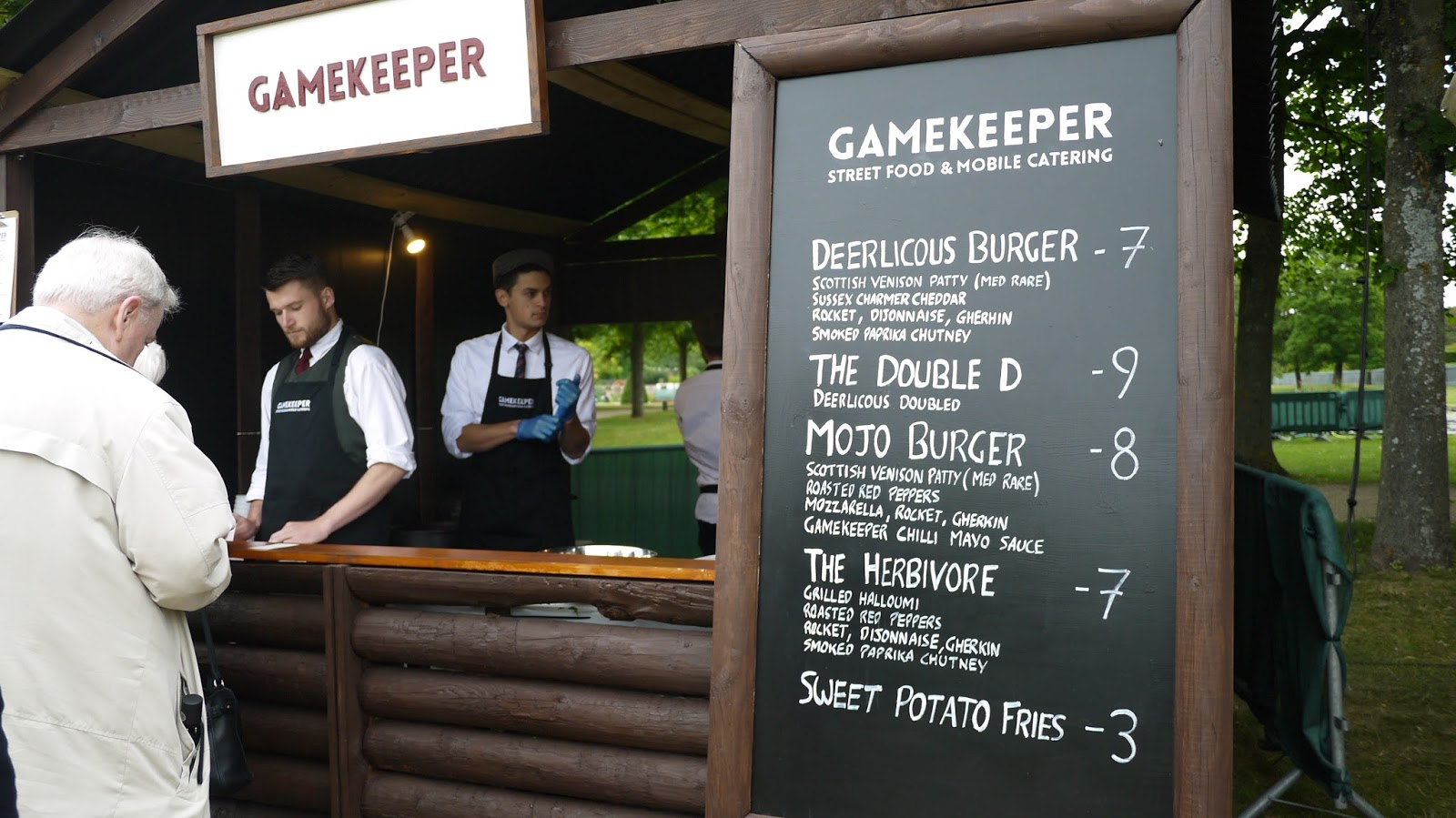Gamekeeper burgers at Hampton Court Palace Festival