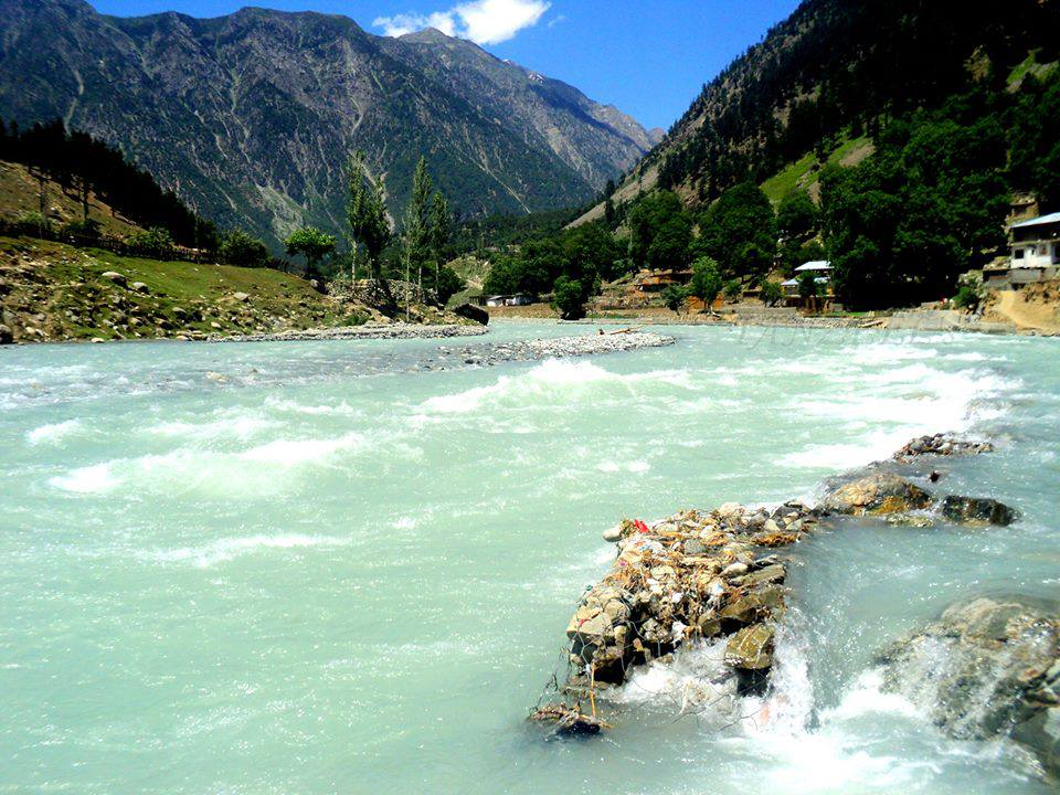 Swat river near Kalam, Swat Pakistan