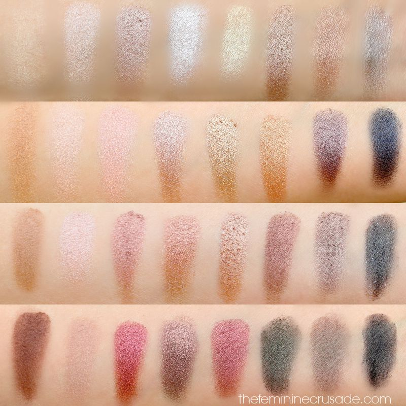 Makeup Revolution Ultra Eyeshadow Flawless Palette (swatches)