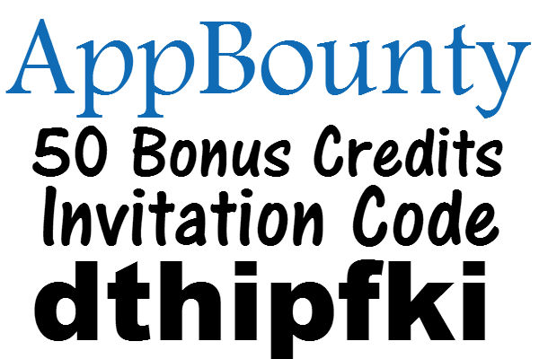 AppBounty Invite Code 2016, AppBounty Sign up Bonus April, May, June, July, August