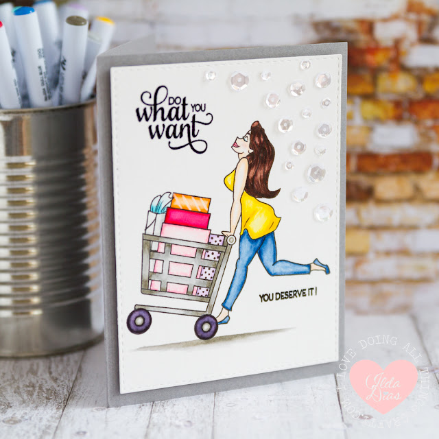Retail Therapy Birthday Card
