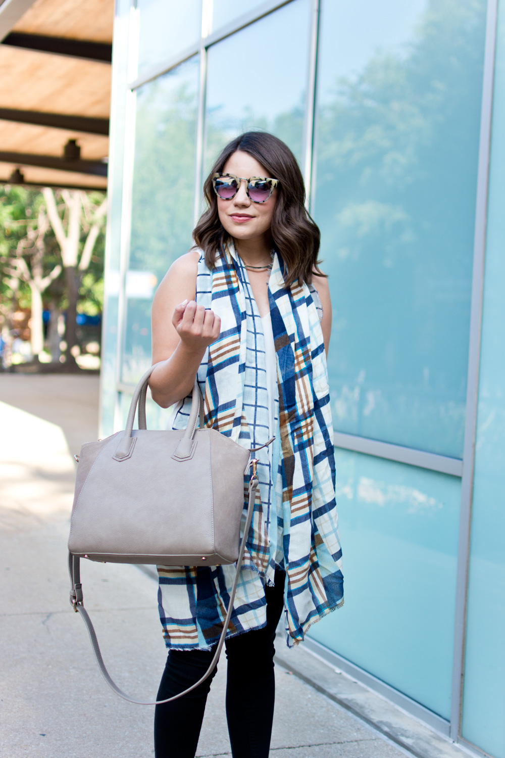 BP Plaid scarf Sole Society Tote bag Nordstrom Anniversary Sale Outfit