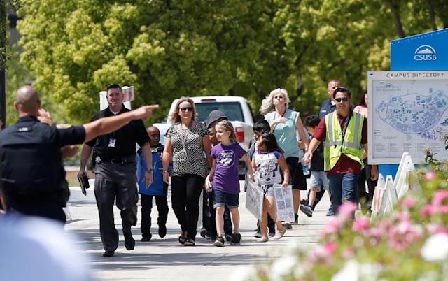 Lelaki Bersenjata Revolver 357 Tembak Mantan Istri di Sekolah.. Dua Siswa Tertembak