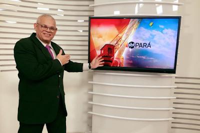Na foto: apresentador do SBT Pará, Valdo Souza. Divulgação/SBT Pará