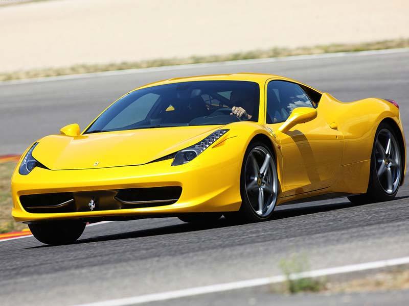 Auto Car 2011 Ferrari 458 Italia Yellow