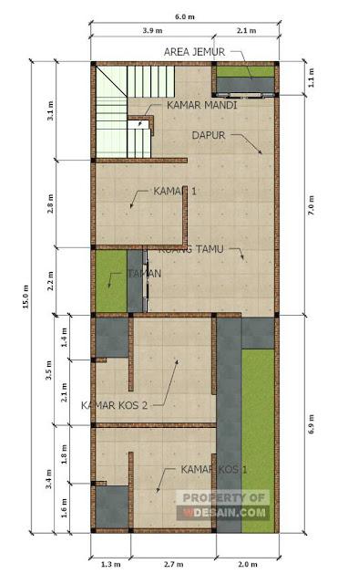 gambar rumah 3 kamar satu lantai