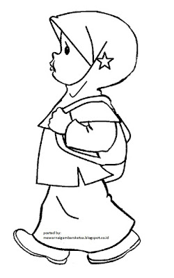 19 Kartun Muslimah Lucu Anak Cemerlang Free Coloring Pages