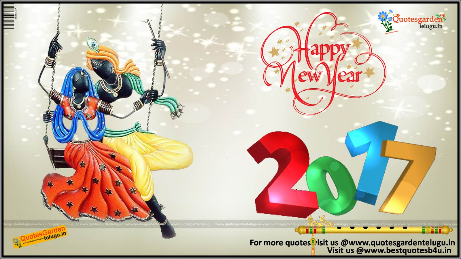 Happy New Year 2017 Greetings Quotes Wishes Hindu God Wallpapers