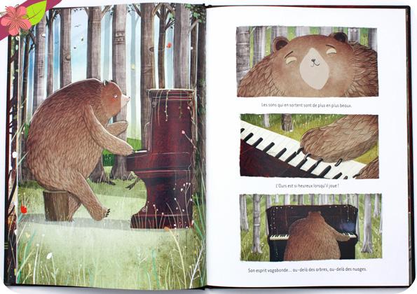 L'ours qui jouait du piano de David Litchfield - Belin Jeunesse