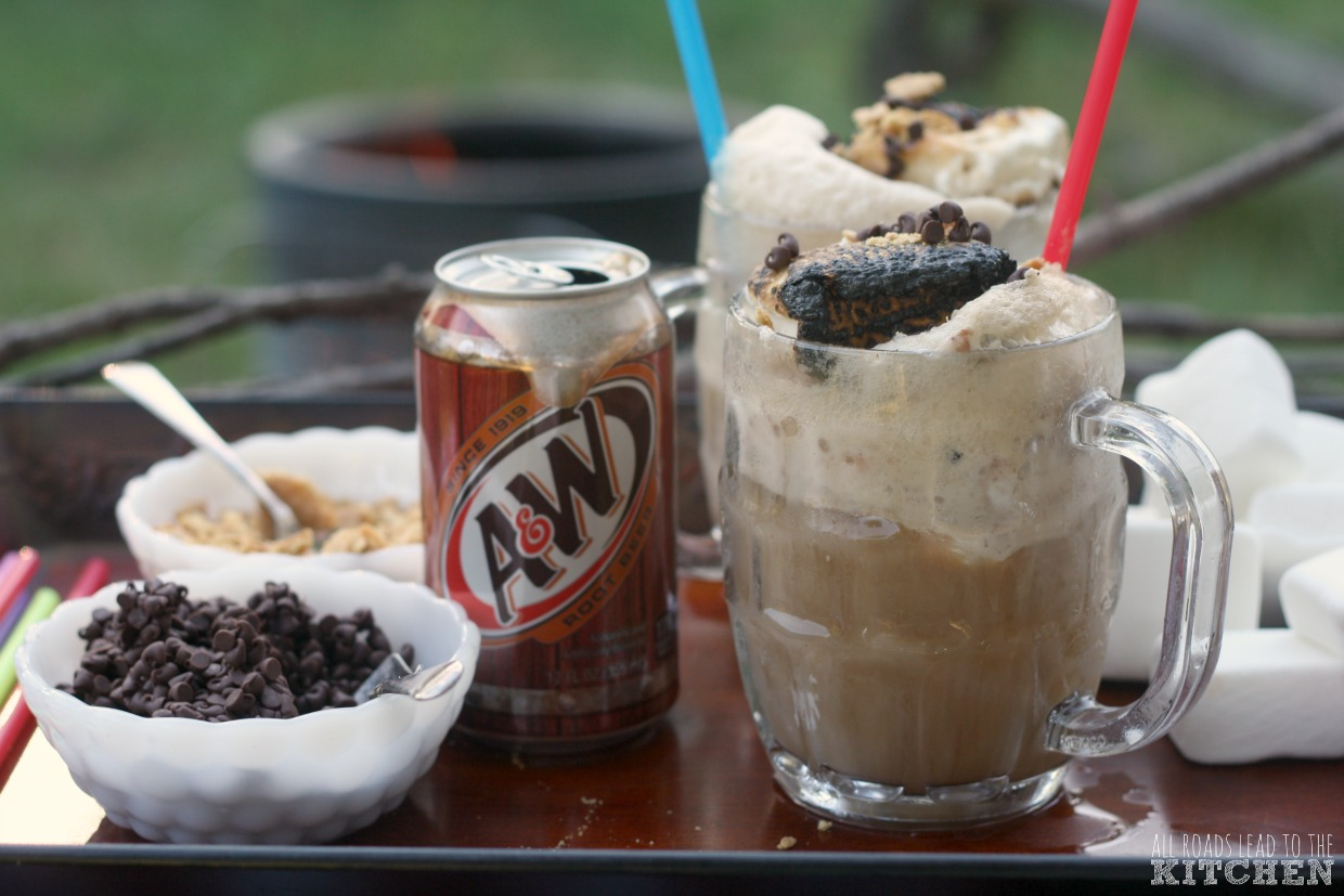 Campfire Root Beer Floats