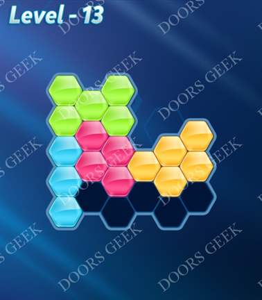 Block! Hexa Puzzle [Rainbow A] Level 13 Solution, Cheats, Walkthrough for android, iphone, ipad, ipod