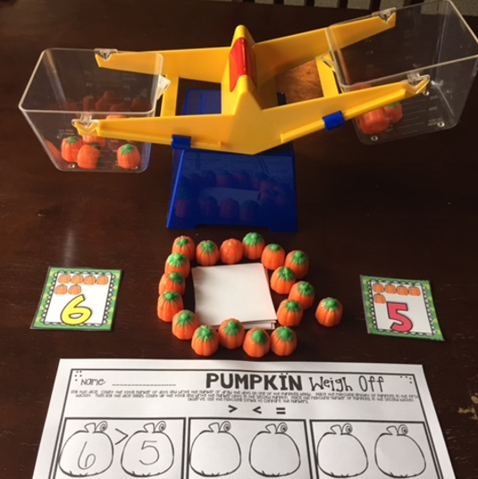 Lil' Pumpkin Candy Math Centers is over 12 fun hands-on math centers that are perfect for your kindergartners to help build a strong foundation in math. All the centers are common core aligned and encourage independence. Most importantly all of the centers use little candy pumpkins as math manipulatives. This will make centers a blast all fall long!