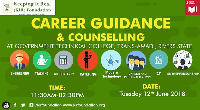 Keeping It Real (KIR) Foundation Career Guidance and Counselling