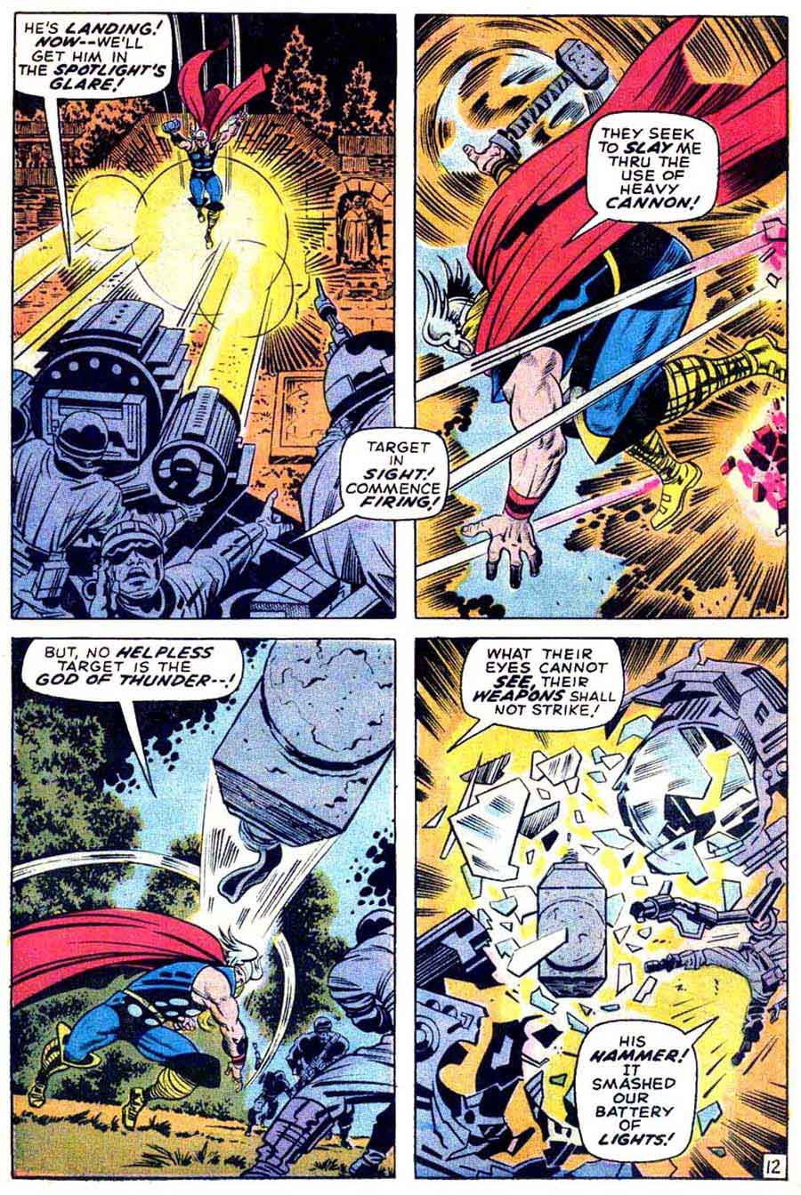 Thor v1 #172 marvel comic book page art by Jack Kirby, Bill Everett