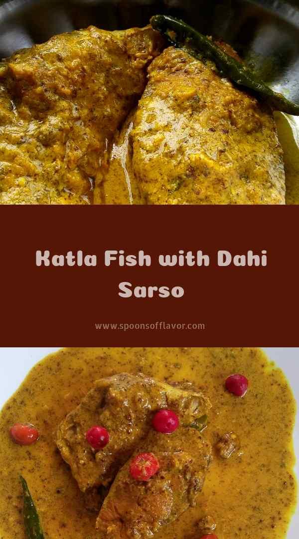 Katla fish with dahi sarso