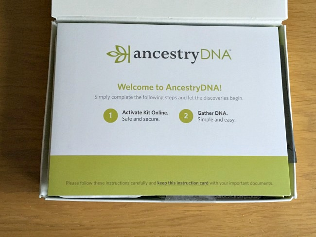ancestry dna test instructions