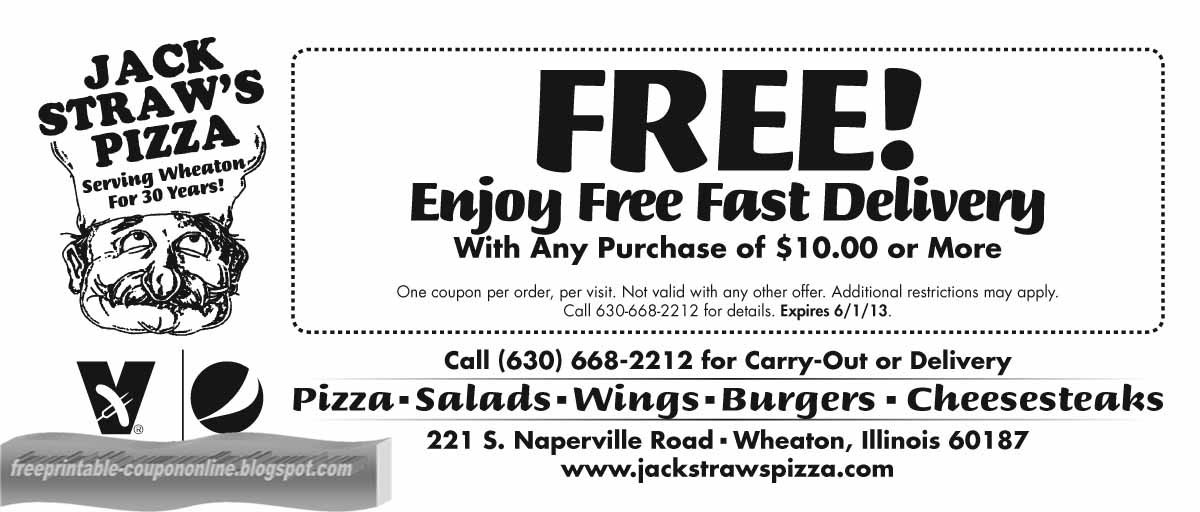 Blackjack pizza coupon code