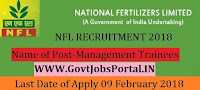 National Fertilizers Limited Recruitment 2018 – 61 Management Trainees