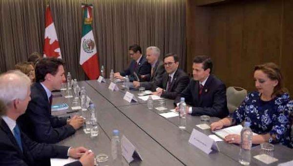 Peña Nieto y Trudeau apuestan por impulsar el libre comercio
