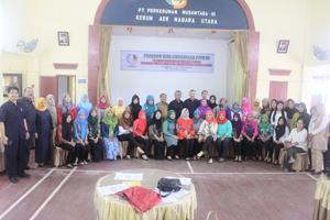 PTPN III Distrik Labuhanbatu III Latih Empat Puluh Ibu dan Remaja Putri