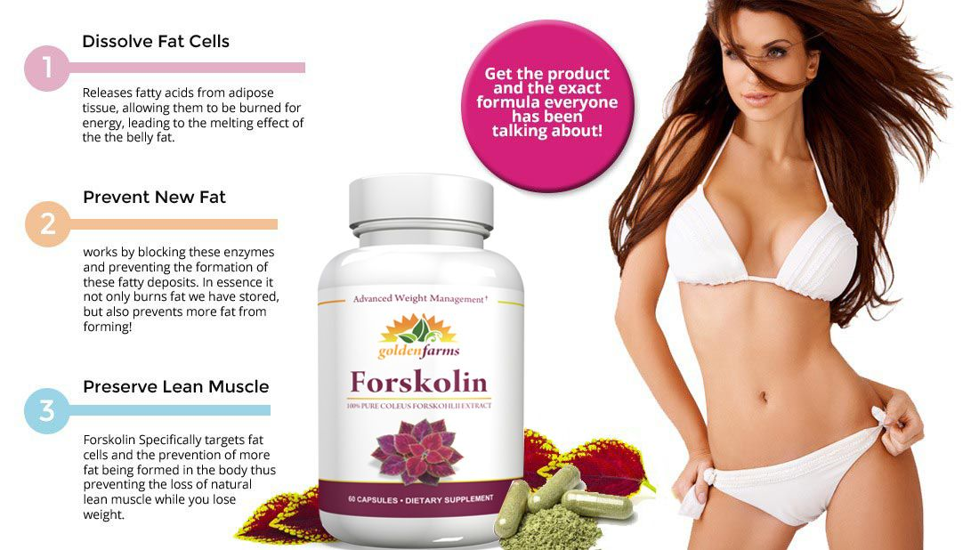 Golden Farms Natural Forskolin - Fat Burner