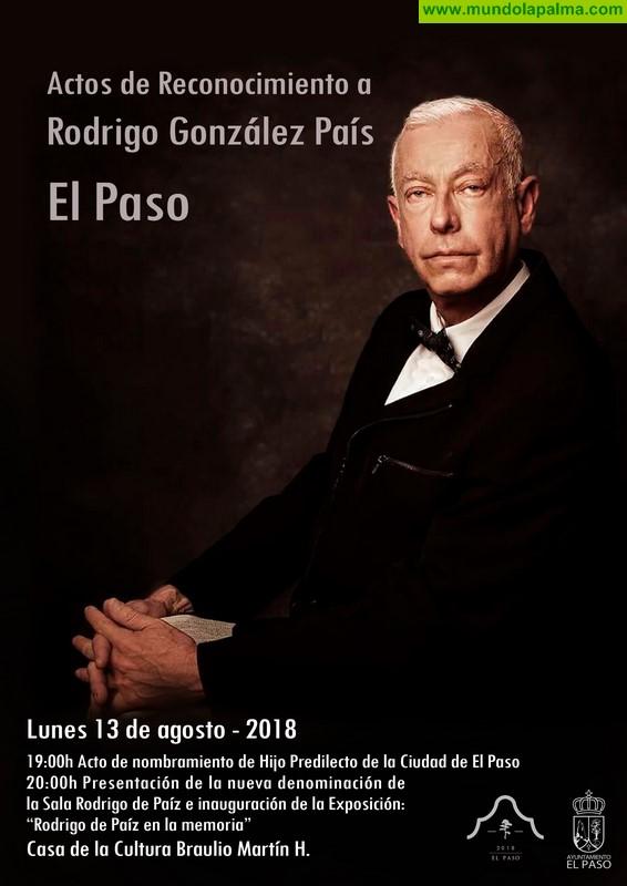 Rodrigo de Páiz hijo predilecto de la Ciudad de El Paso
