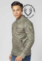 áo khoác da nam f19
