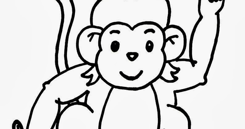 Baby Monkey :: Drawing Pictures :: Kindergarten Worksheet
