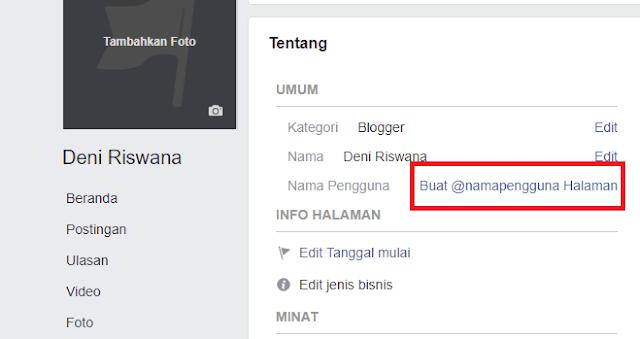Cara Membuat Nama Pengguna pada Fans Page Facebook