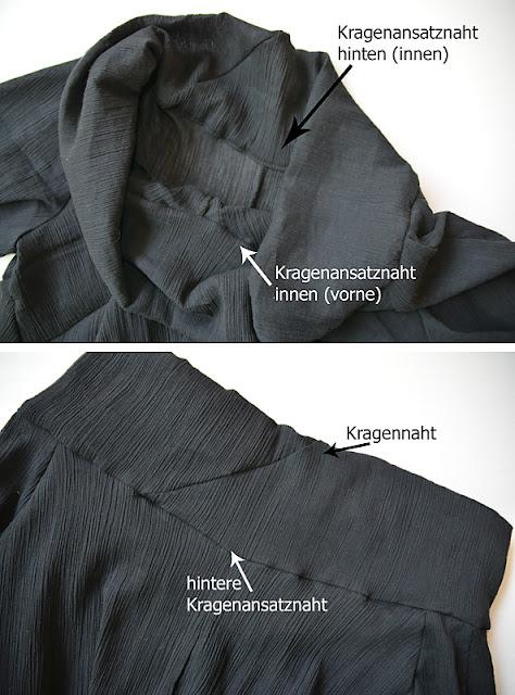 Stokx Knitterkleid - Blusenversion - frauvau.blogspot.de für crafteln.de