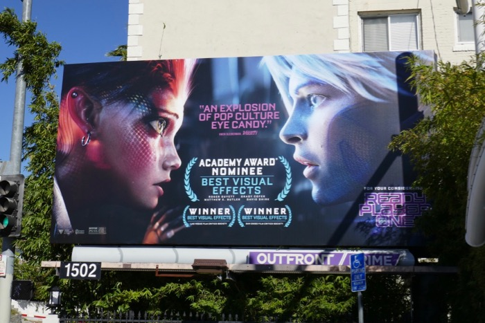 Ready Player One Oscar nominee billboard