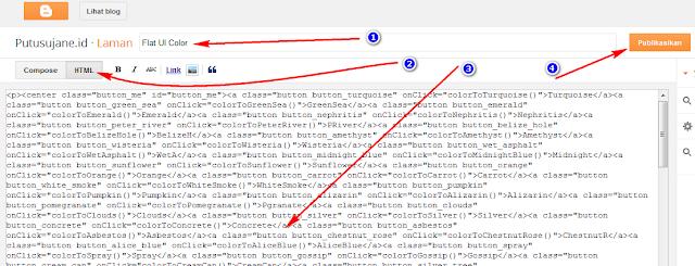 Tutorial Pasang Flat UI Color di Blog