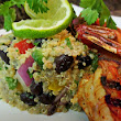 Recipe of the Day: Mexican Quinoa Salad and Grilled Shrimp!